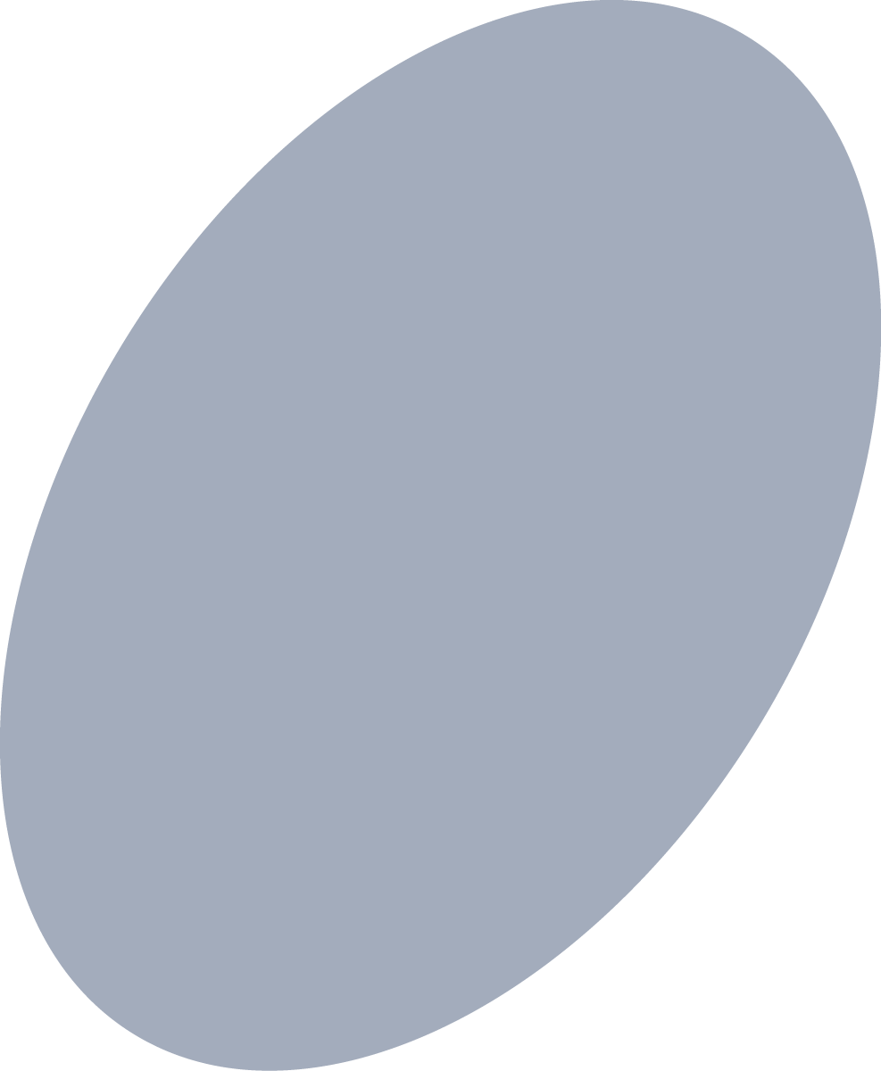 dark gray oval